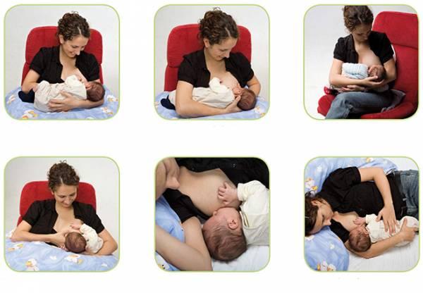 правильные позы для кормления грудью