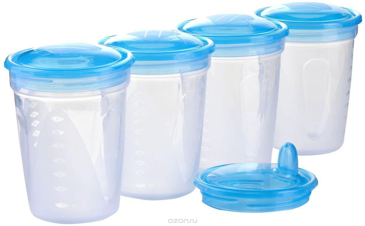 Пластиковые контейнеры для хранения сцеженного грудного молока