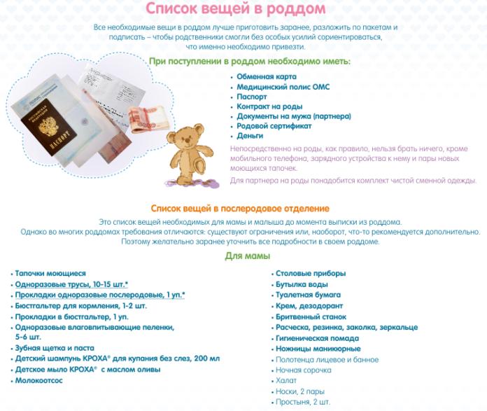 Ленинском вещи в роддом список 2016 москва первого курса