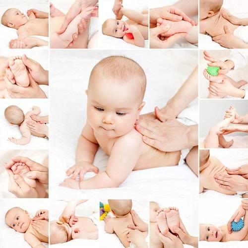 Техники массажа новорожденным