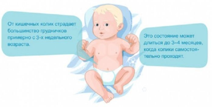 Ребенку 1 месяц мучают колики