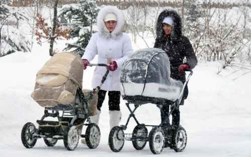 сколько гулять с грудничком зимой