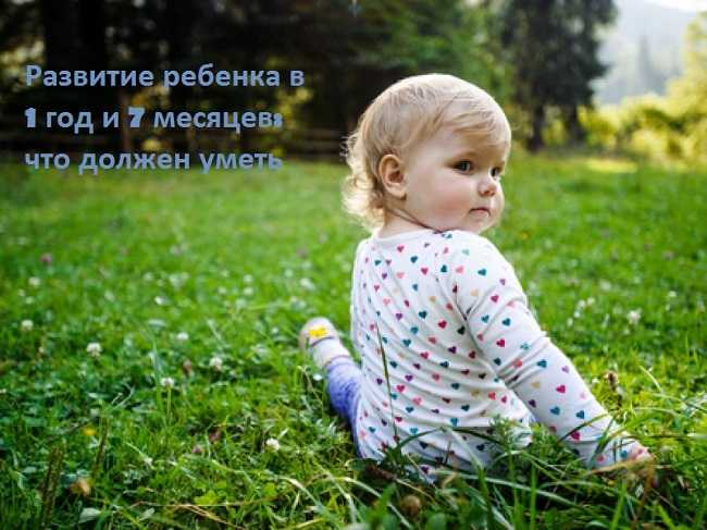 развитие ребенка в 1 год и 7 месяцев