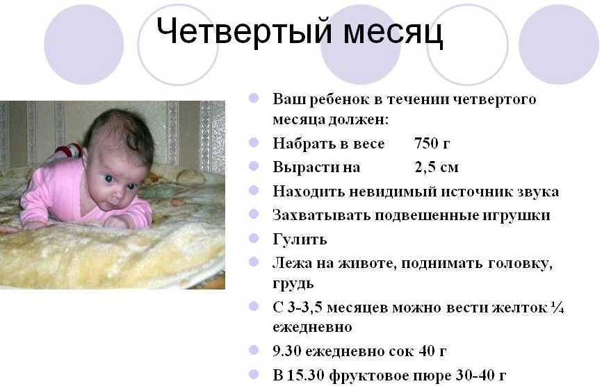 4 мес ребенок развитие