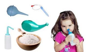 Промывание носа при остром рините у детей